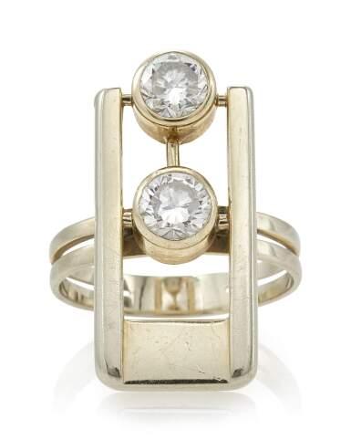 View 1. Thumbnail of Lot 88. DIAMOND RING (ANELLO CON DIAMANTI) .