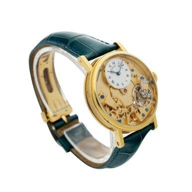 View 3. Thumbnail of Lot 88. REFERENCE 7027 LA TRADITION A YELLOW GOLD SEMI-SKELETONIZED WRISTWATCH WITH POWER RESERVE INDICATION, CIRCA 2005.