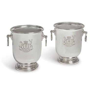 A PAIR OF SPANISH SILVER WINE COOLERS, MADRID, 1793