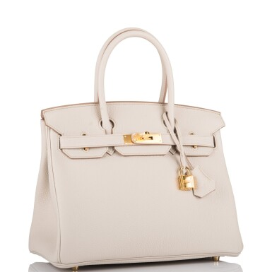 View 2. Thumbnail of Lot 5. Hermès Beton Birkin 30cm of Togo Leather with Gold Hardware.