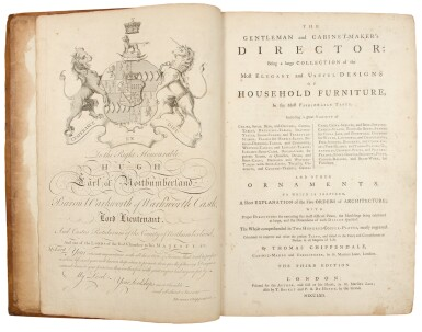 View 2. Thumbnail of Lot 33. Thomas Chippendale. The Gentleman and Cabinet-Maker's Director: London: 1762.