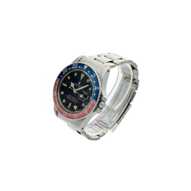 View 2. Thumbnail of Lot 98. REFERENCE 1675 GMT-MASTER 'PEPSI' A STAINLESS STEEL AUTOMATIC DUAL TIME WRISTWATCH WITH DATE AND BRACELET, CIRCA 1972.