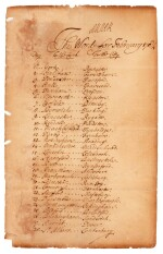 QUEEN ANNE | document signed, list of daily passwords, 1704