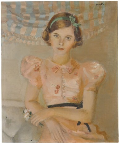 View 1. Thumbnail of Lot 82. Portrait of Lady Patricia, later Countess Mountbatten of Burma (1924-2017).