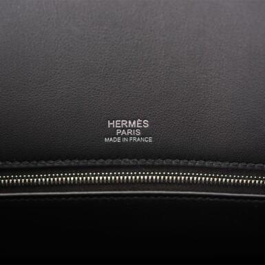 View 8. Thumbnail of Lot 32. Hermès Black Shadow Birkin 35cm of Swift Leather.