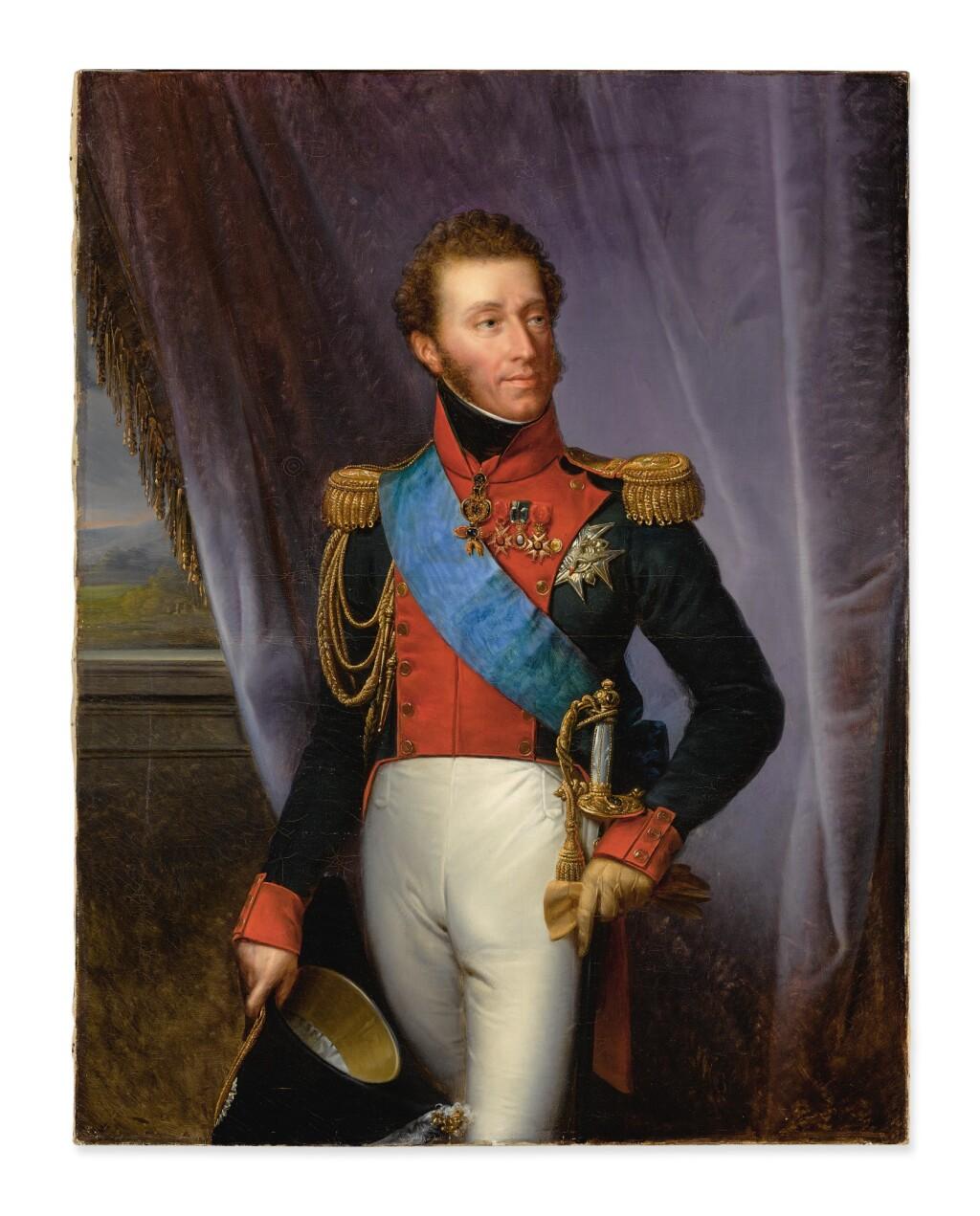 FRANÇOIS-JOSEPH KINSON   PORTRAIT OF LOUIS ANTOINE OF FRANCE, DUC D'ANGOULÊME (1775 – 1844), THREE-QUARTER LENGTH