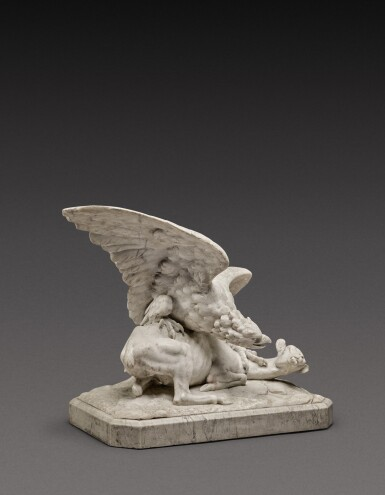 View 3. Thumbnail of Lot 131. Italian, probably Rome, first half 19th century | Eagle attacking a Goat.