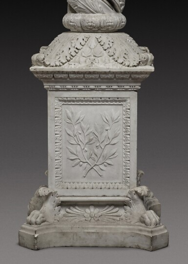 View 5. Thumbnail of Lot 173. An Italian neoclassical carved marble candelabrum, Rome, late 18th century.