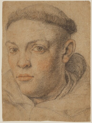 View 1. Thumbnail of Lot 545. FRENCH SCHOOL, 17TH CENTURY | Head of a monk.