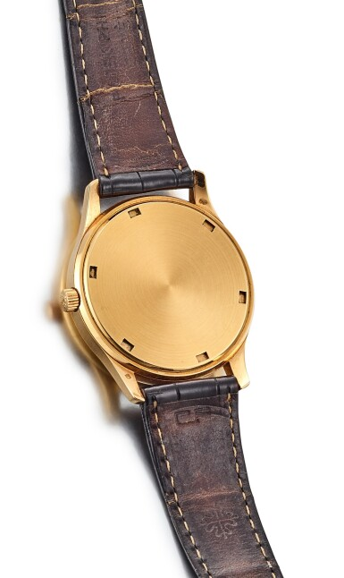 View 3. Thumbnail of Lot 8061. PATEK PHILIPPE | CALATRAVA, REFERENCE 3998, A YELLOW GOLD WRISTWATCH WITH DATE, MADE IN 1996.