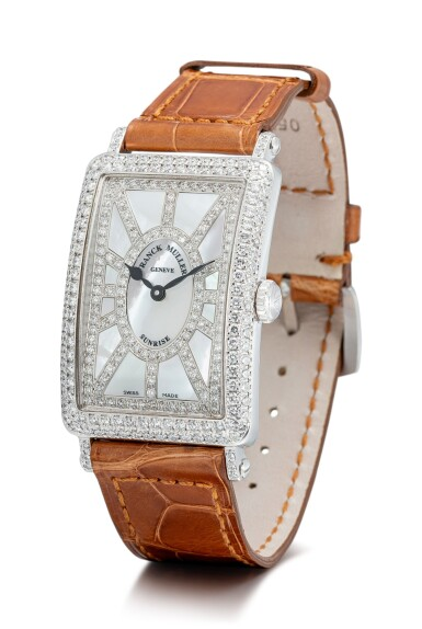 View 2. Thumbnail of Lot 106. FRANCK MULLER | LONG ISLAND, REFERENCE 952 QZ SNR D CD, A WHITE GOLD AND DIAMOND-SET WRISTWATCH WITH MOTHER-OF-PEARL DIAL, CIRCA 2018.