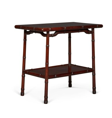 View 2. Thumbnail of Lot 141. A PAIR OF CHINESE HARDWOOD OCCASIONAL TABLES, EARLY 20TH CENTURY.