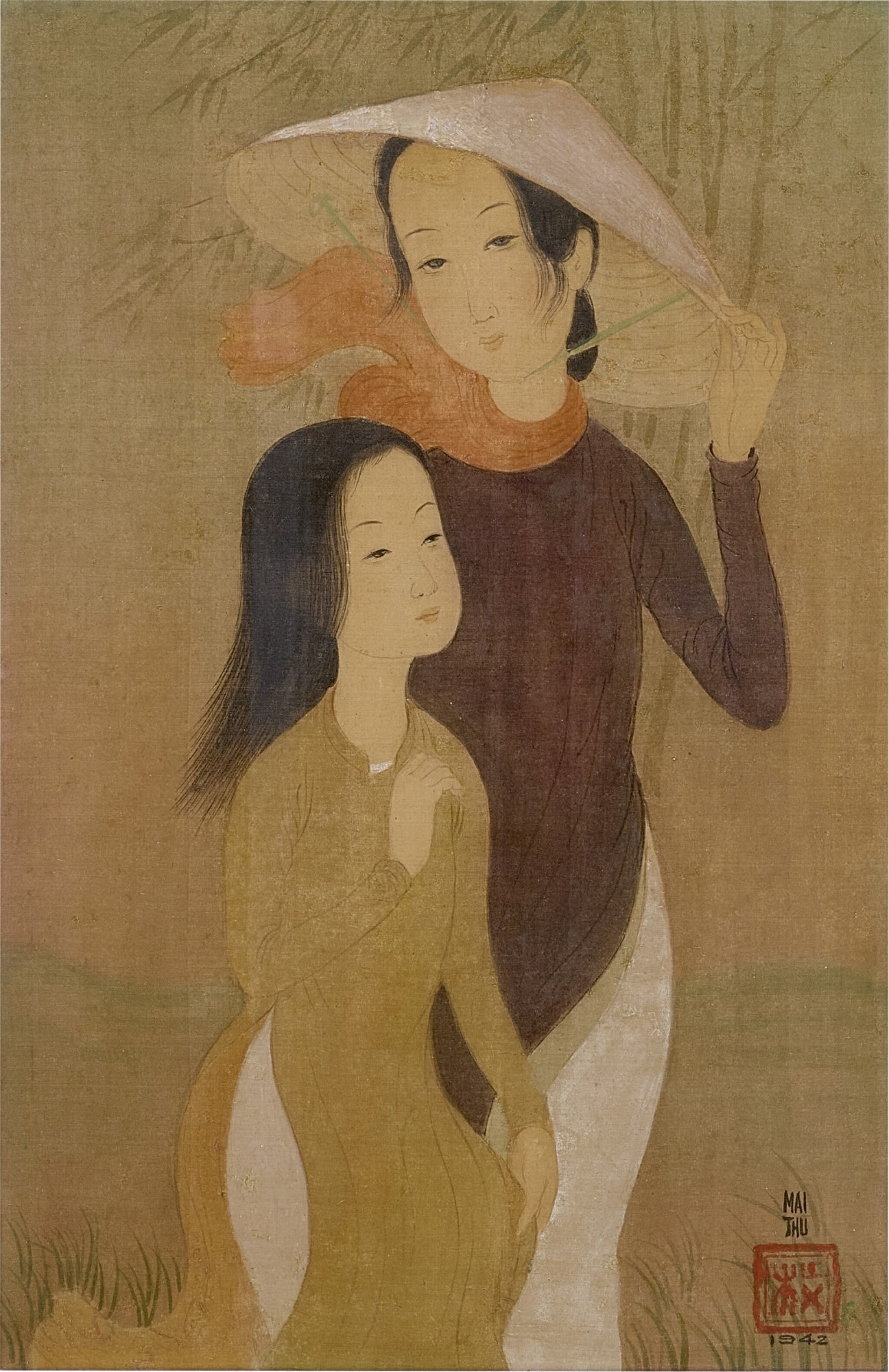 View full screen - View 1 of Lot 233. MAI TRUNG THU 梅忠恕 | DEUX JEUNES FEMMES (TWO YOUNG LADIES) 兩位少女.