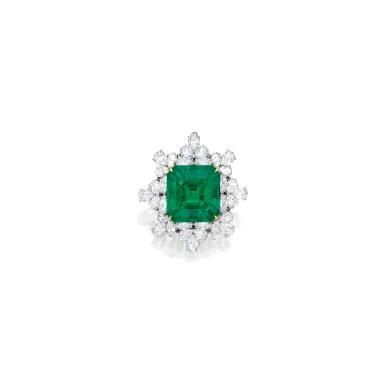 EMERALD AND DIAMOND PENDANT-BROOCH | 祖母綠配鑽石吊墜 / 別針