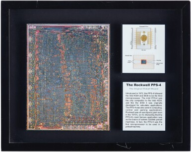 View 5. Thumbnail of Lot 43. A COLLECTION OF FRAMED MICROCHIPS.