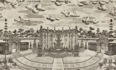 View 31. Thumbnail of Lot 362. A SET OF TWENTY PRINTS OF PALACES, PAVILIONS AND GARDENS AT YUANMING YUAN | 巴黎、1977年 《郎世寧圓明園西洋樓》 一組二十幅 水墨紙本.