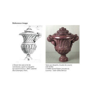 View 6. Thumbnail of Lot 4. A LARGE CARVED RED EGYPTIAN PORPHYRY VASE WITH COVER, LOUIS XIV, PROBABLY EXECUTED IN ROME, CIRCA 1680-1700 | GRAND VASE COUVERT EN PORPHYRE ROUGE D'EGYPTE D'ÉPOQUE LOUIS XIV, PROBABLEMENT RÉALISÉ À ROME, VERS 1680-1700.