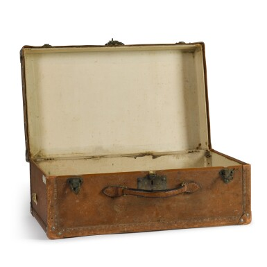 View 2. Thumbnail of Lot 46. A French leather travelling case by Goyard of Paris, early 20th century.