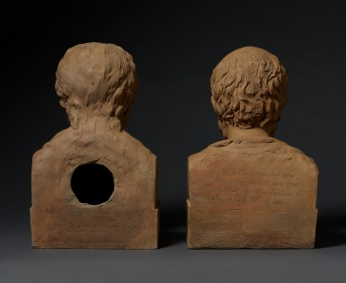 View 5. Thumbnail of Lot 10. FRANCE   PAIR OF BUSTS OF GALEN AND HIPPOCRATES.