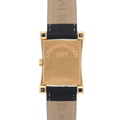 View 4. Thumbnail of Lot 317. PAGODA, REF 5500 YELLOW GOLD WRISTWATCH MADE TO COMMEMORATE THE OPENING OF THE NEW WATCHMAKING CENTER OF PATEK PHILIPPE IN GENEVA CIRCA 1997.