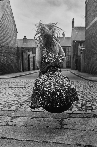 View 1. Thumbnail of Lot 11. Girl on a Spacehopper, Byker.