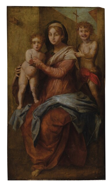 MANNER OF ANDREA DEL SARTO | MADONNA AND CHILD WITH SAINT JOHN THE BAPTIST AS A CHILD