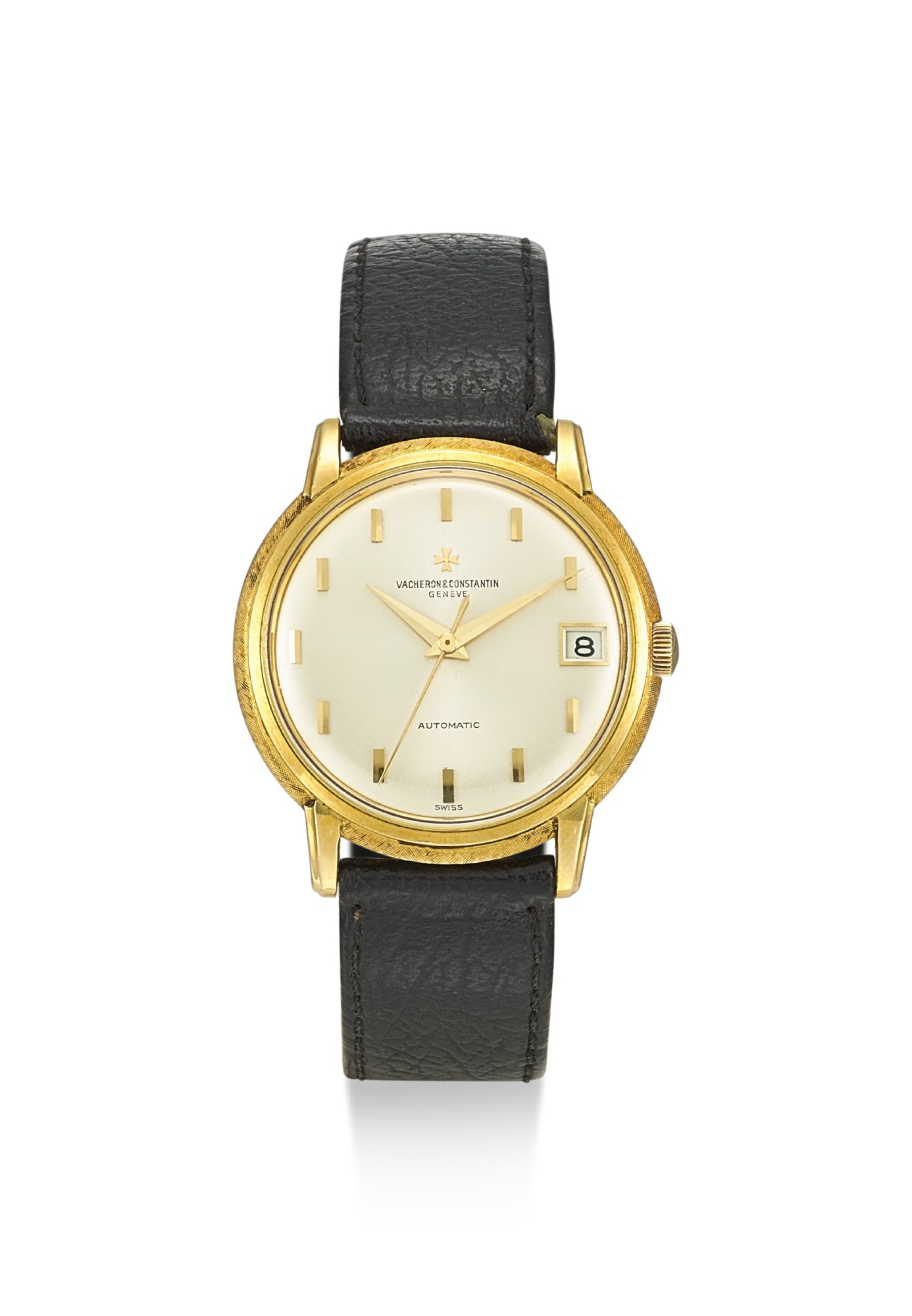 View full screen - View 1 of Lot 8159. VACHERON CONSTANTIN | REFERENCE 6394, A YELLOW GOLD WRISTWATCH WITH DATE, CIRCA 1960.