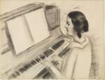 Portrait de Henriette jouant au piano