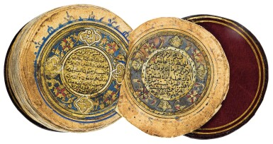 AN ILLUMINATED MINIATURE QUR'AN IN FITTED BOX, TURKEY, OTTOMAN, DATED 951 AH/1544 AD