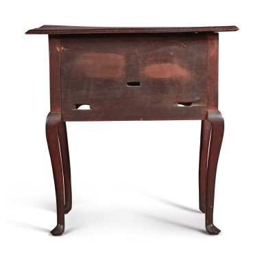 The Wells-Hubbard-Taintor Family Diminutive Queen Anne Figured Maple Dressing Table, Probably Middletown, Connecticut, circa 1770