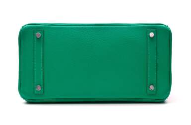 View 5. Thumbnail of Lot 346. Menthe Birkin 30cm in Chèvre Mysore Leather with Palladium Hardware, 2013.