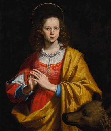 LORENZO LIPPI | Portrait of a young woman, probably Margherita Galli, in the guise of Saint Margaret | 洛倫索・利皮 | 《年輕女子肖像,應為瑪格麗塔・加利妝成聖瑪加利大》
