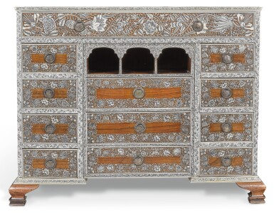 View 5. Thumbnail of Lot 175. AN ANGLO-INDIAN IVORY INLAID ROSEWOOD WRITING OR DRESSING TABLE, VIZAGAPATAM, MID-18TH CENTURY.