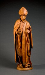 CIRCLE OF TILMAN RIEMENSCHNEIDER (1460-1531), GERMAN, FRANCONIA, CIRCA 1500  SAINT NICHOLAS OF MYRA
