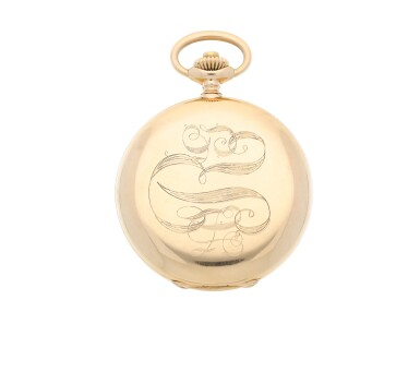 View 3. Thumbnail of Lot 35. PATEK PHILIPPE |  A PINK GOLD HUNTING CASED WATCH, MADE IN 1902.
