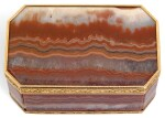A HARDSTONE SNUFF BOX WITH TWO-COLOUR GOLD MOUNTS, JOSEF WOLFGANG SCHMIDT, VIENNA, 179[?]