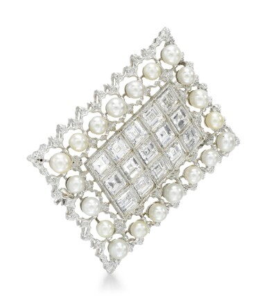 View 2. Thumbnail of Lot 258. BUCCELLATI   SEED PEARL AND DIAMOND BROOCH.