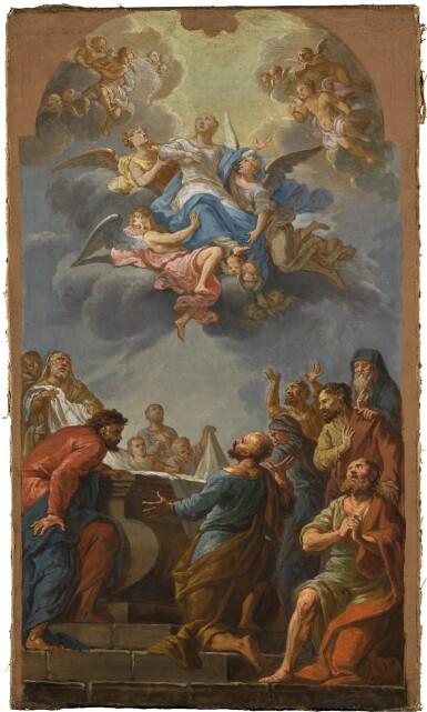 SPANISH SCHOOL, 18TH CENTURY | The Assumption of the Madonna