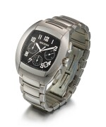BOUCHERON | MEC, A STAINLESS STEEL CHRONOGRAPH WRISTWATCH WITH DATE AND BRACELET, CIRCA 2008