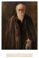 DARWIN   A watercolour portrait of Darwin by John Collier
