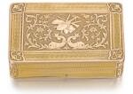 AN EARLY TWO-COLOUR GOLD SUR PLATEAU MUSICAL BOX, GENEVA, CIRCA 1812