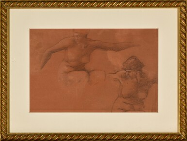 View 2. Thumbnail of Lot 18. Figure Studies for Perseus and the Graiae.