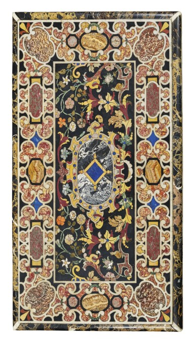 View 1. Thumbnail of Lot 848. AN ITALIAN BAROQUE COMMESSO DI PIETRE DURE PANEL, ATTRIBUTED TO THE GRAND DUCAL WORKSHOPS, FLORENCE, EARLY 17TH CENTURY.