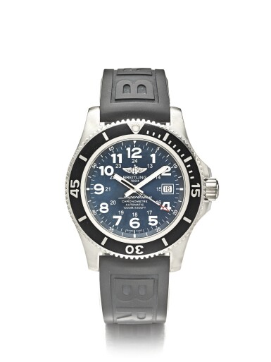 View 1. Thumbnail of Lot 16. BREITLING SUPEROCEAN II 44 REF A17392 | A STAINLESS STEEL AUTOMATIC CENTER SECONDS WRISTWATCH WITH DATE CIRCA 2016.