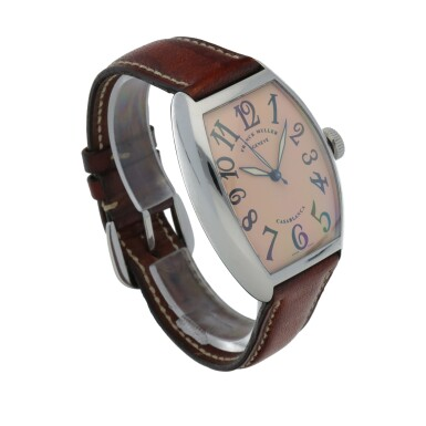 View 3. Thumbnail of Lot 545. Casablanca, Ref. 5850 Stainless steel wristwatch Circa 2002   Franck Muller 5850型號「Casablanca」精鋼腕錶,年份約2002.