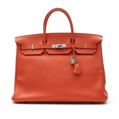 View 1. Thumbnail of Lot 313. Feu Birkin 40cm in Taurillion Clemence Leather with Palladium Hardware, 2014.
