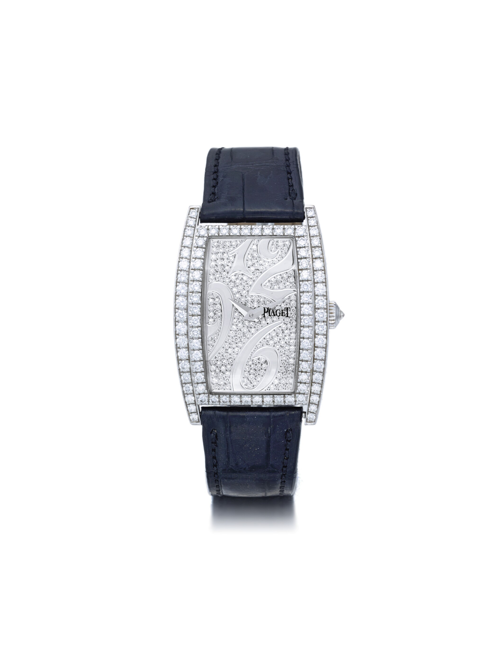 View full screen - View 1 of Lot 69. PIAGET | LIMELIGHT REF P10266 A WHITE GOLD AND DIAMOND SET TONNEAU FORM WRISTWATCH CIRCA 2005.
