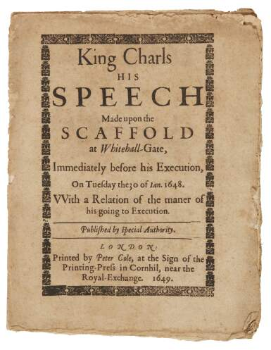 17th and 18th century broadsides and pamphlets, 11 volumes | English  Literature, History, Science, Children's Books and Illustrations Online |  Books & Manuscripts | Sotheby's