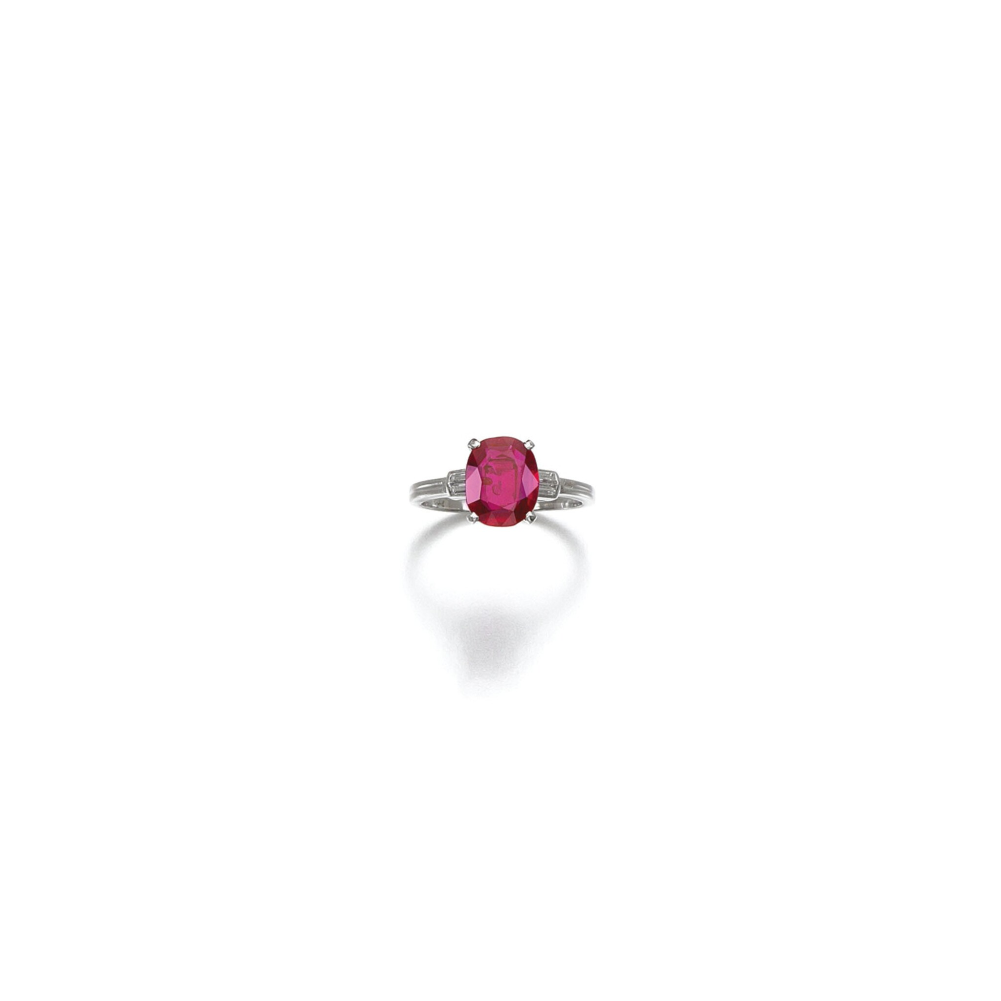 View 1 of Lot 11. RUBY AND DIAMOND RING, TIFFANY & CO..