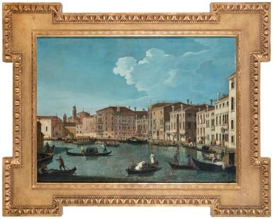 View 6. Thumbnail of Lot 203. Venice, a view of the Grand Canal with the Chiesa di Santa Maria della Salute; Venice, a view of the Santa Chiara Canal, looking south-east along the Fondamenta della Croce.